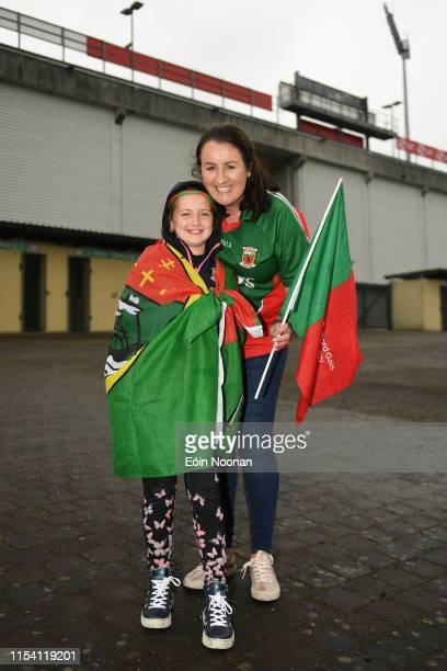 Limerick Ireland 6 July 2019 Mayo supporters Sarah Carey with niece Lauren Carey age 10 from Killala Co Mayo prior to the GAA Football AllIreland...