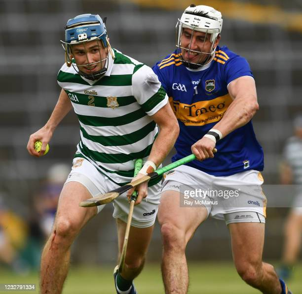 Limerick , Ireland - 8 May 2021; Aaron Costello of Limerick in action against Patrick Maher of Tipperary during the Allianz Hurling League Division 1...