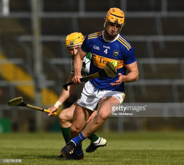 Limerick , Ireland - 8 May 2021; Barry Heffernan of Tipperary in action against Séamus Flanagan of Limerick during the Allianz Hurling League...