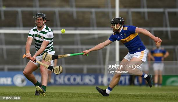 Limerick , Ireland - 8 May 2021; Darragh O'Donovan of Limerick in action against Alan Flynn of Tipperary during the Allianz Hurling League Division 1...