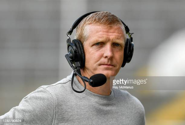 Limerick , Ireland - 8 May 2021; Former Kilkenny captain Henry Shefflin, working with RTÉ, before the Allianz Hurling League Division 1 Group A Round...