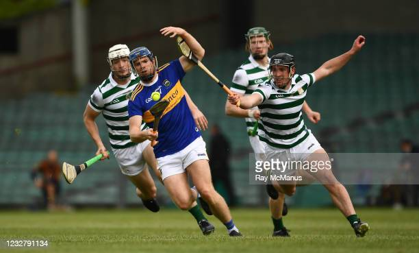 Limerick , Ireland - 8 May 2021; Jason Forde of Tipperary in action against Darragh O'Donovan, right, Kyle Hayes, left, and William O'Donoghue of...