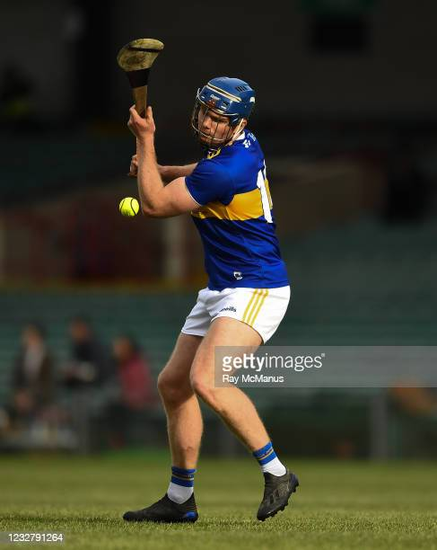 Limerick , Ireland - 8 May 2021; Jason Forde of Tipperary strikes a free during the Allianz Hurling League Division 1 Group A Round 1 match between...