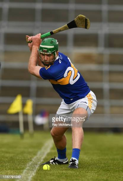 Limerick , Ireland - 8 May 2021; Noel McGrath of Tipperary, takes a line ball, during the Allianz Hurling League Division 1 Group A Round 1 match...
