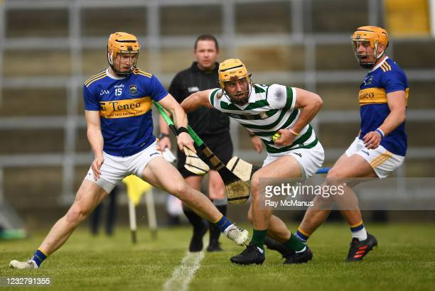 Limerick , Ireland - 8 May 2021; Tom Morrisey of Limerick in action against Jake Morris, left, and Ronan Maher of Tipperary during the Allianz...
