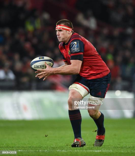 Limerick Ireland 9 December 2017 CJ Stander of Munster during the European Rugby Champions Cup Pool 4 Round 3 match between Munster and Leicester...