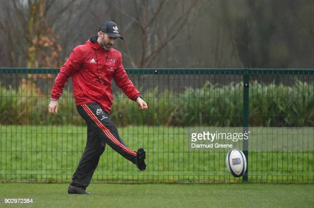 Limerick Ireland 9 January 2018 Munster head of athletic performance Aled Walters during Munster Rugby squad training at the University of Limerick...
