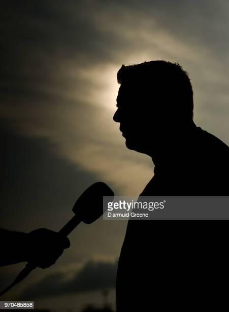 Limerick Ireland 9 June 2018 Mayo manager Stephen Rochford is interviewed after the GAA Football AllIreland Senior Championship Round 1 match between...