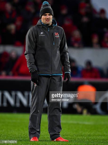 Limerick Ireland 9 November 2019 Ulster defence coach Jared Payne prior to the Guinness PRO14 Round 6 match between Munster and Ulster at Thomond...
