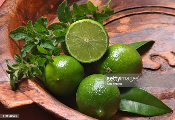 Limes and herbs