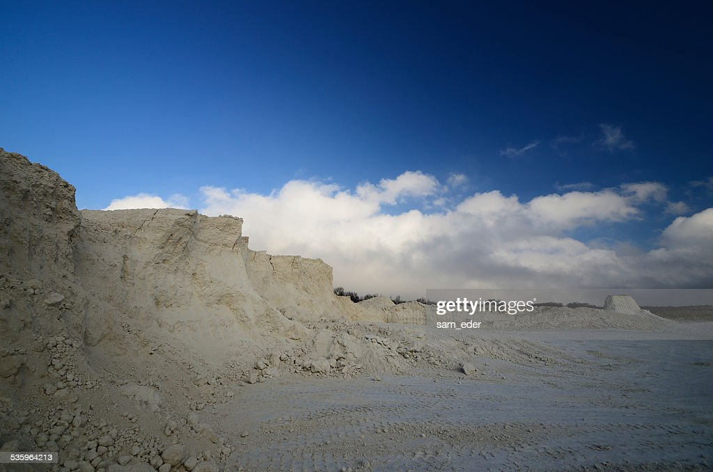 limestone break and sky : Stock Photo
