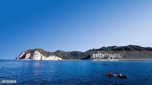 Limestone cliffs and fishermen