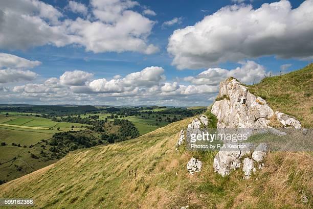 Limestone outcrop in a White Peak landscape, Derbyshire