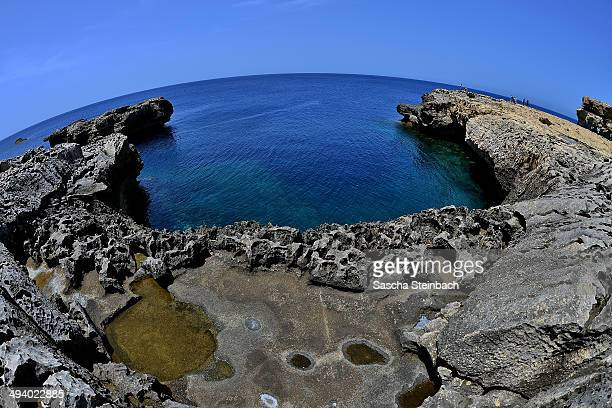 A limestone plateau near the natural arch 'The Azure Window' is seen at Dwejra Bay on May 20 2014 in Dwejra/Gozo Malta