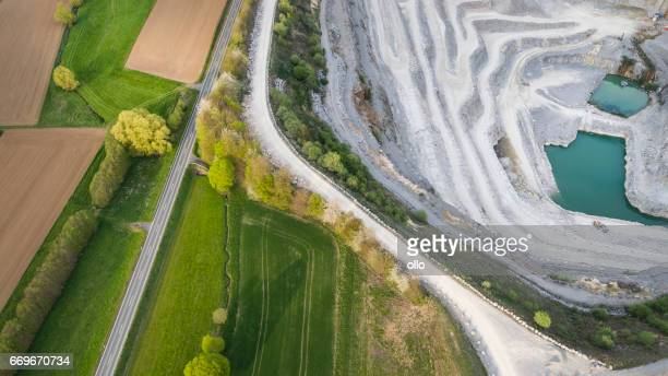 Limestone quarry - aerial view