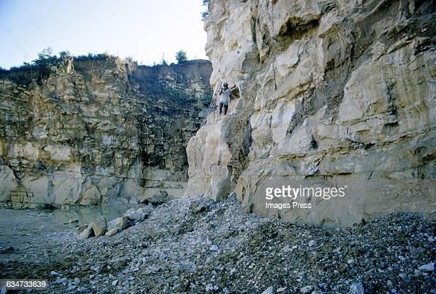 A limestone quarry circa 1972 in Aracaju Brazil