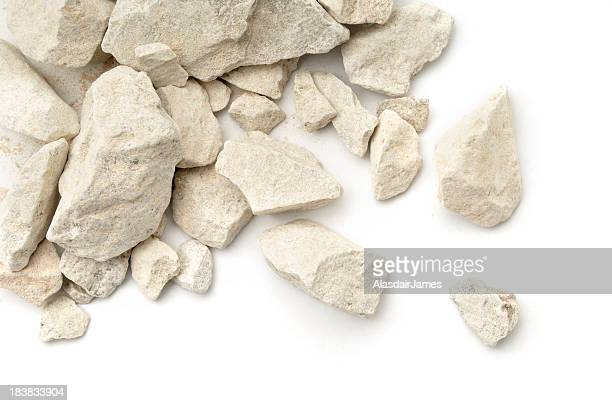 Pierre calcaire éparpillés