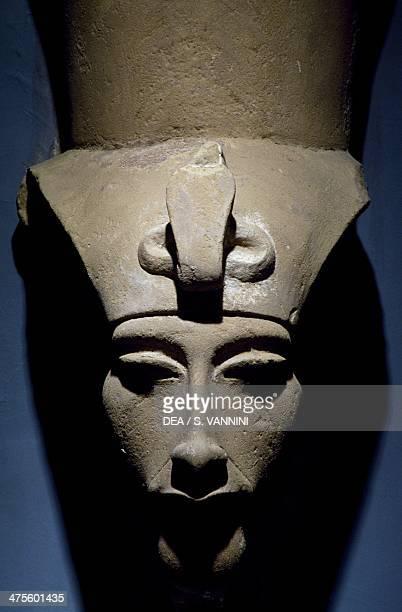 Limestone statue depicting Amenhotep IV from Karnak Egypt Egyptian civilisation New Kingdom Dynasty XVIII Luxor Ancient Egypt Museum