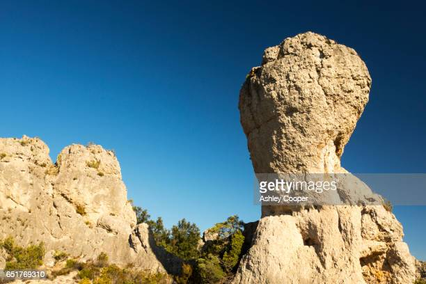 Limestone towers in Languedoc, France.