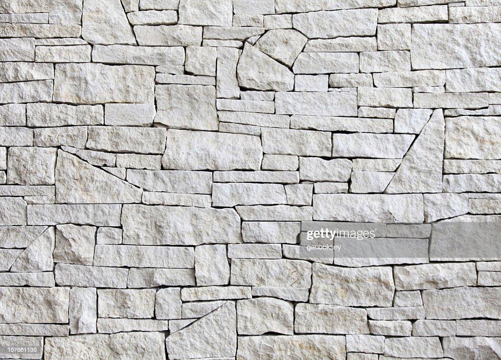 Calcário parede-Vista frontal, número de blocos : Foto de stock