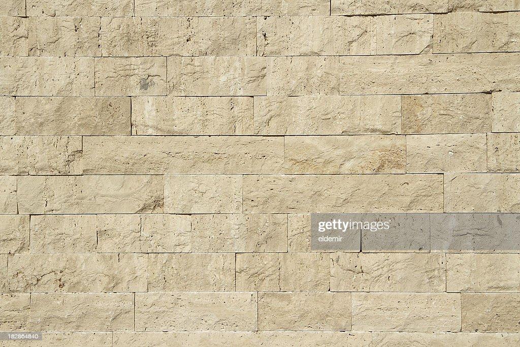 Limestone wall : Stock Photo