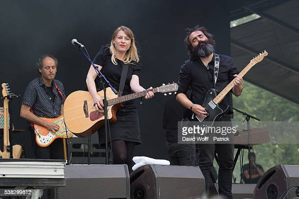 Liminanas and Pascal Comelade performs at We Love Green Festival Day 02 on June 5 2016 in Paris France