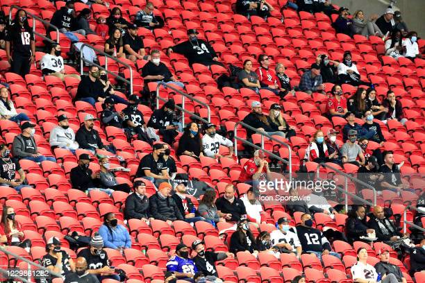 Limited attendance was allowed for the NFL football game between the Atlanta Falcons and the Las Vegas Raiders on November 29, 2020 at the...