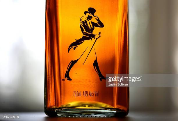 A limited edition bottle of Johnnie Walker whisky called Jane Walker is displayed on March 3 2018 in Sacramento California Diageo the world's largest...