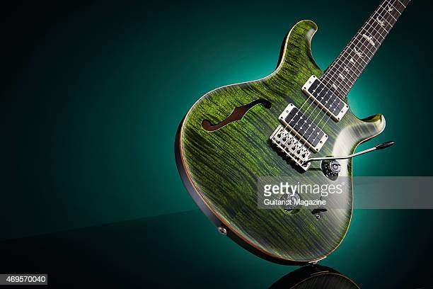 A 2014 limited edition PRS Custom 24 SemiHollow electric guitar with a Jade finish taken on July 24 2014