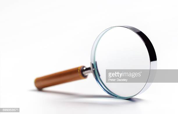 Limited focus magnifying glass with copy space