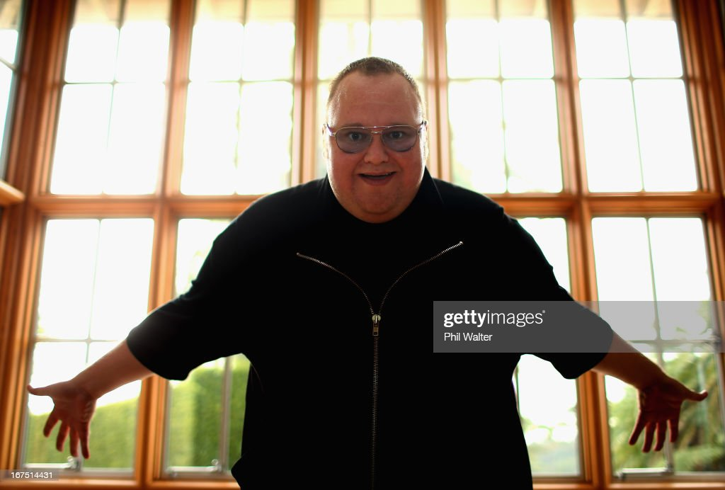 Limited founder, Kim Dotcom poses during a portrait session at the Dotcom Mansion on April 26, 2013 in Auckland, New Zealand. MEGA Limited this year launched cloud storage service 'Mega.co.nz', the successor to the controversial file sharing service 'Megaupload.com' shut down by the US Department of Justice in January 2012.