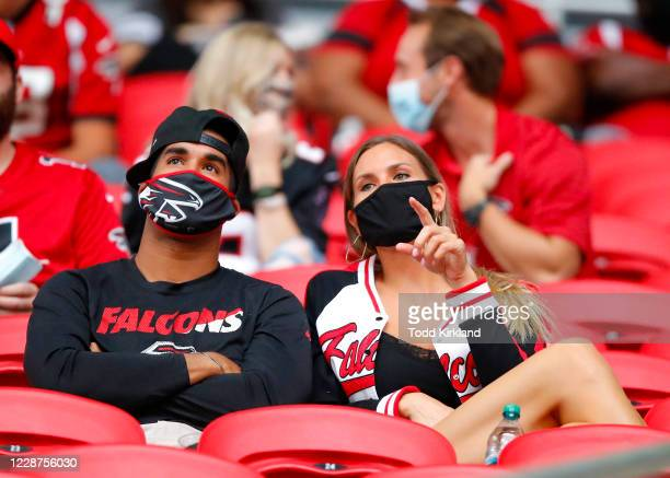 A limited number of fans were allowed to attend an NFL game between the Chicago Bears and the Atlanta Falcons at MercedesBenz Stadium on September 27...