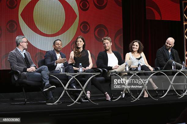 Limitless Panel speaking to the TCA Summer Press Tour 2015 on Monday August 10 2015 at the Beverly Hilton hotel in Los Angeles CA Pictured Alex...
