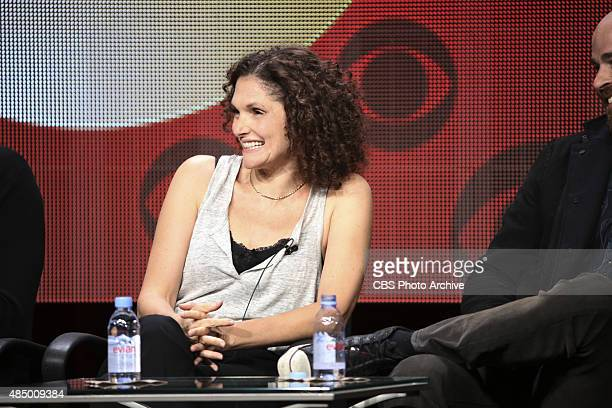 Limitless Panel speaking to the TCA Summer Press Tour 2015 on Monday August 10 2015 at the Beverly Hilton hotel in Los Angeles CA Pictured Mary...