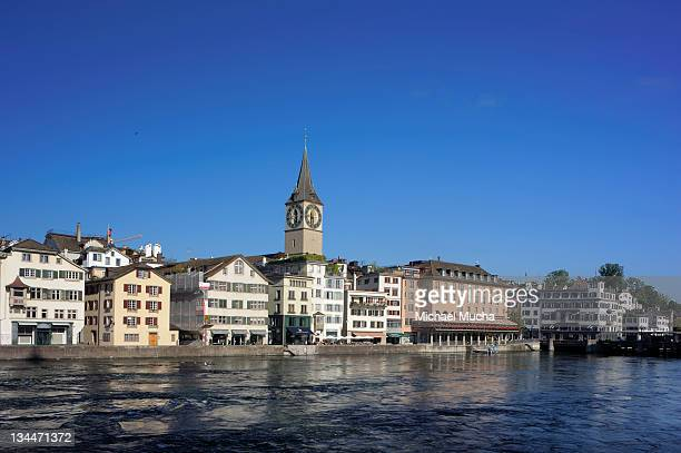 limmatquai in the town centre, zurich, switzerland, europe - michael mucha stock-fotos und bilder
