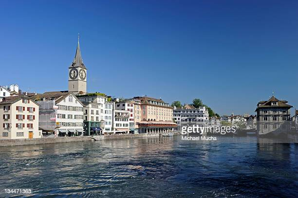 limmatquai, zurich, switzerland, europe - michael mucha stock-fotos und bilder