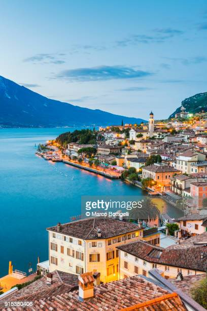 limone sul garda, lake garda, italy - lombardy stock pictures, royalty-free photos & images