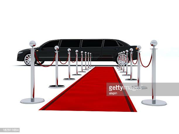 Limousine and red carpet