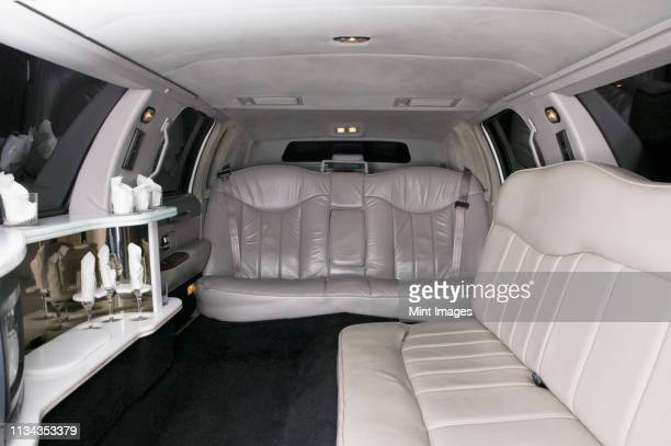limousine interior - vehicle interior stock pictures, royalty-free photos & images