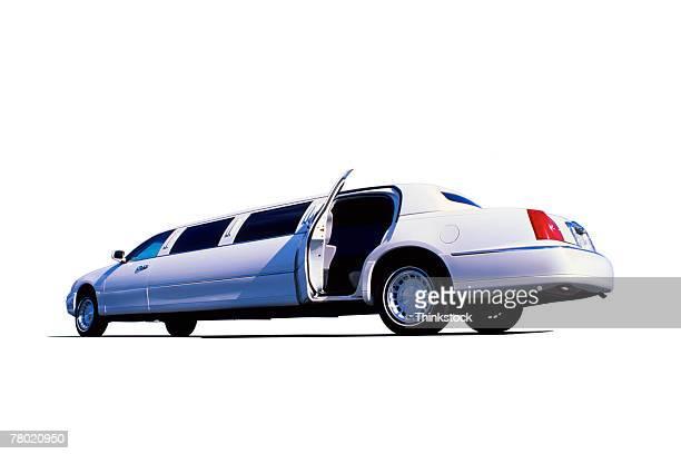 Limousine with door open