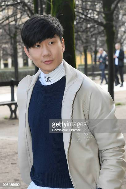 Lin attends the Louis Vuitton Menswear Fall/Winter 20182019 show as part of Paris Fashion Week on January 18 2018 in Paris France