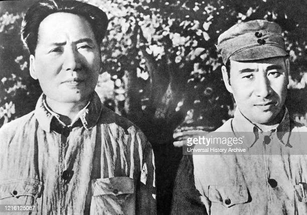 Lin Biao with Mao Zedong. 1940. Mao Zedong , was a Chinese communist revolutionary who became the founding father of the People's Republic of China ,...