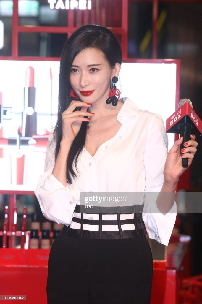 Lin Chi-Ling promoted for Armani Box in Taipei, Taiwan, China on 14th July, 2018 : News Photo