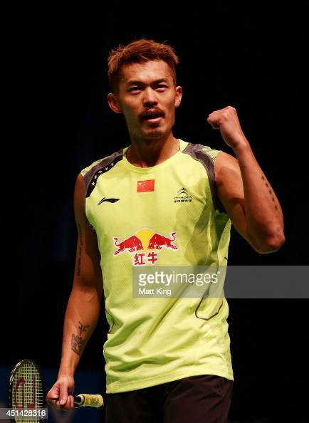 Lin Dan of China celebrates winning the Mens Singles Final ...