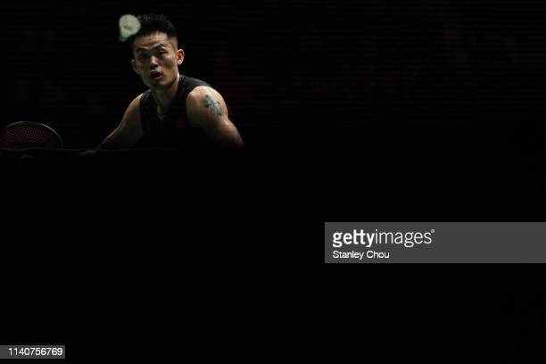 Lin Dan of China in action on day five of the Badminton Malaysia Open at Axiata Arena on April 06 2019 in Kuala Lumpur Malaysia