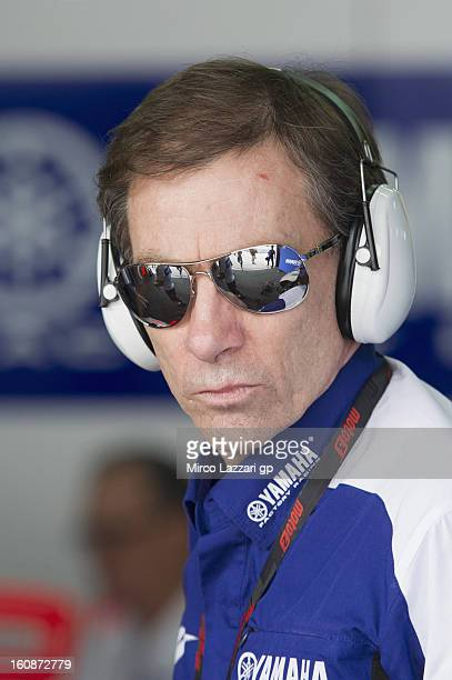 Lin Jarvis of Great Britain and Yamaha Factory Racing looks on during the MotoGP Tests in Sepang Day Five at Sepang Circuit on February 7 2013 in...