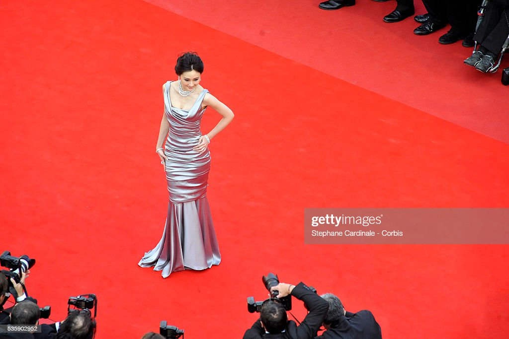 Lin Peng at the premiere of ''Robin Hood' during the 63rd Cannes International Film Festival.