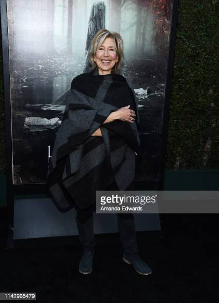 Lin Shaye arrives at the premiere of Warner Bros' The Curse Of La Llorona at the Egyptian Theatre on April 15 2019 in Hollywood California