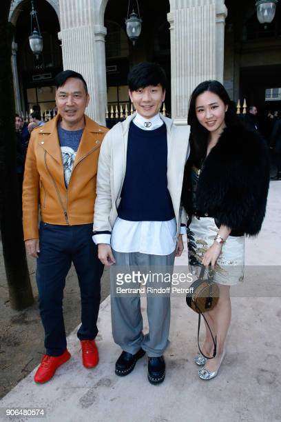 Lin standing between guests attend the Louis Vuitton Menswear Fall/Winter 20182019 show as part of Paris Fashion Week on January 18 2018 in Paris...