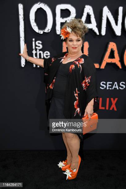 "Lin Tucci attends the ""Orange Is The New Black"" Final Season World Premiere at Alice Tully Hall, Lincoln Center on July 25, 2019 in New York City."